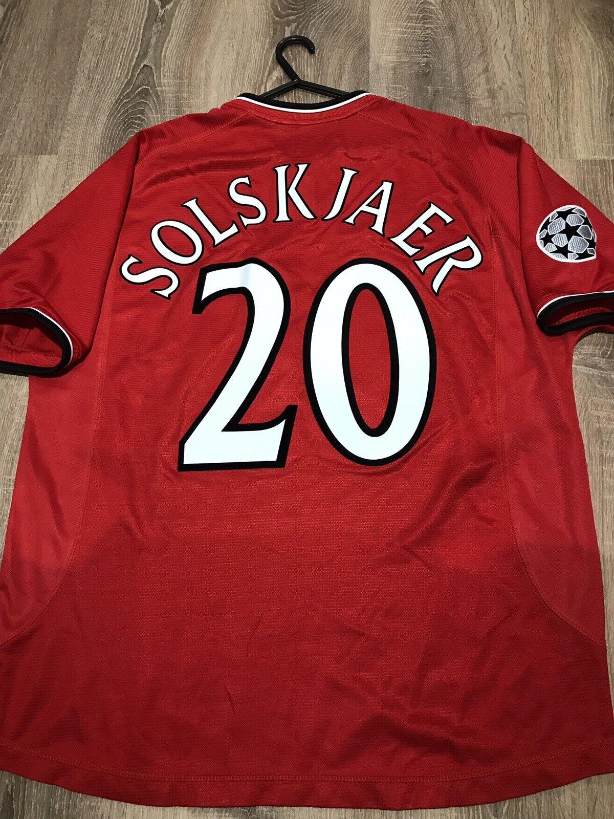 uomochester United 200002 CHAMPION LEAGUE maglietta adulti L 20 Solskjaer
