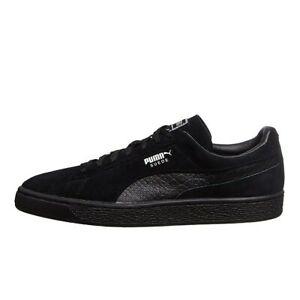 Puma-Suede-Classic-Mono-Reptile-Black-Sneakers-Mens-US-10-5-BNIB-NEW