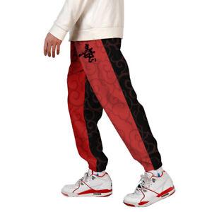 Mens-3D-Print-Color-Block-Cargo-Pants-Joggers-Pants-Trousers-003-6XL
