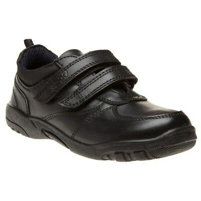 New Boys pod Black Graham Leather Shoes