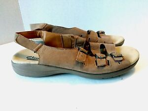 2dc67d289ea Clarks Saylie Medway Women US 12 N EUR 44 Taupe Nubuck Leather ...