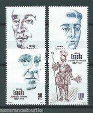 ESPAGNE PERSONNALITÉS - 1983 YT 2322 à 2325 - TIMBRES NEUFS** LUXE
