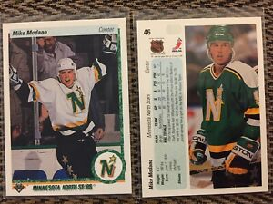 1990-91-Upper-Deck-46-Mike-Modano-Rookie-Card-RC-Minnesota-North-Stars