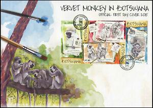 Botswana-2015-Suedliche-Gruenmeerkatze-Mint-Ersttagsbrief