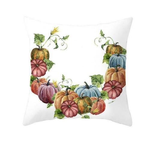 Throw Pumpkin Cushion Fall Home Case Pillow Waist Cover Halloween Sofa NEW Decor