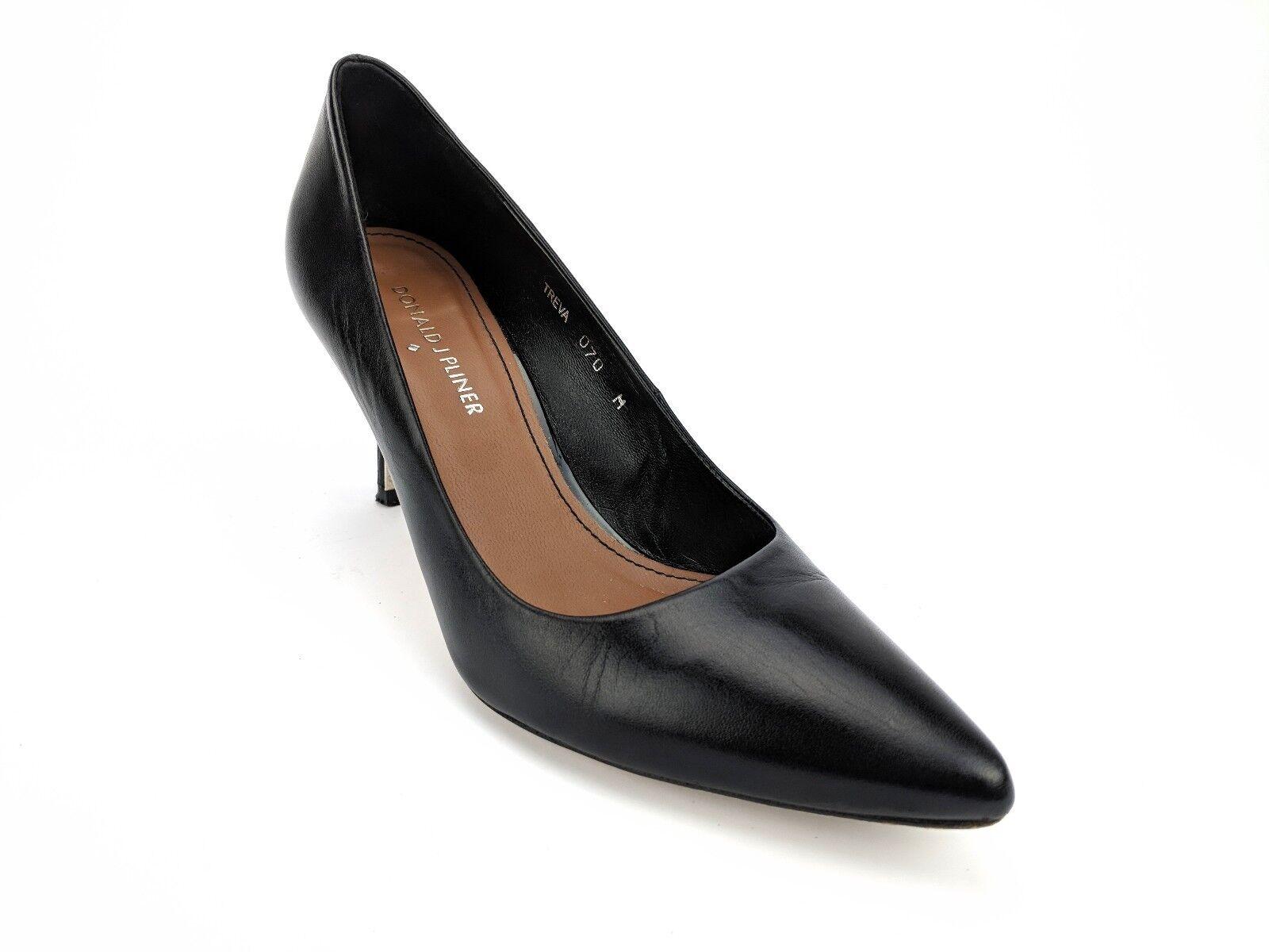 servizio di prima classe Donald J Pliner Treva Pointy Toe Pump nero nero nero Leather donna Dimensione 7 M  nuovo stile