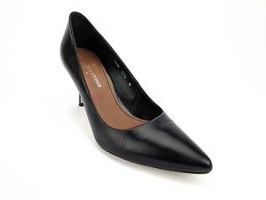 Donald-J-Pliner-Treva-Pointy-Toe-Pump-Black-Leather-Womens-Size-7-M