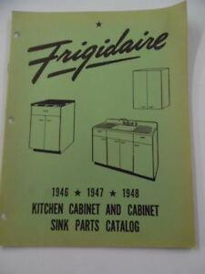 Details about 1946-48 FRIGIDAIRE Kitchen Cabinet &Sink Appliance Parts  Catalog SER-497 Vintage