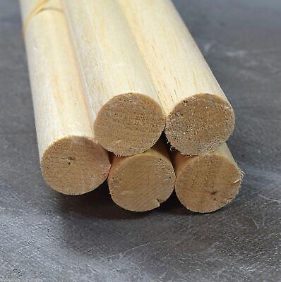 "Wws Balsa Wood Dowel 25mm (1) Diameter 305mm (12"") Long - 9 Pack - Model Making Buona Conservazione Del Calore"