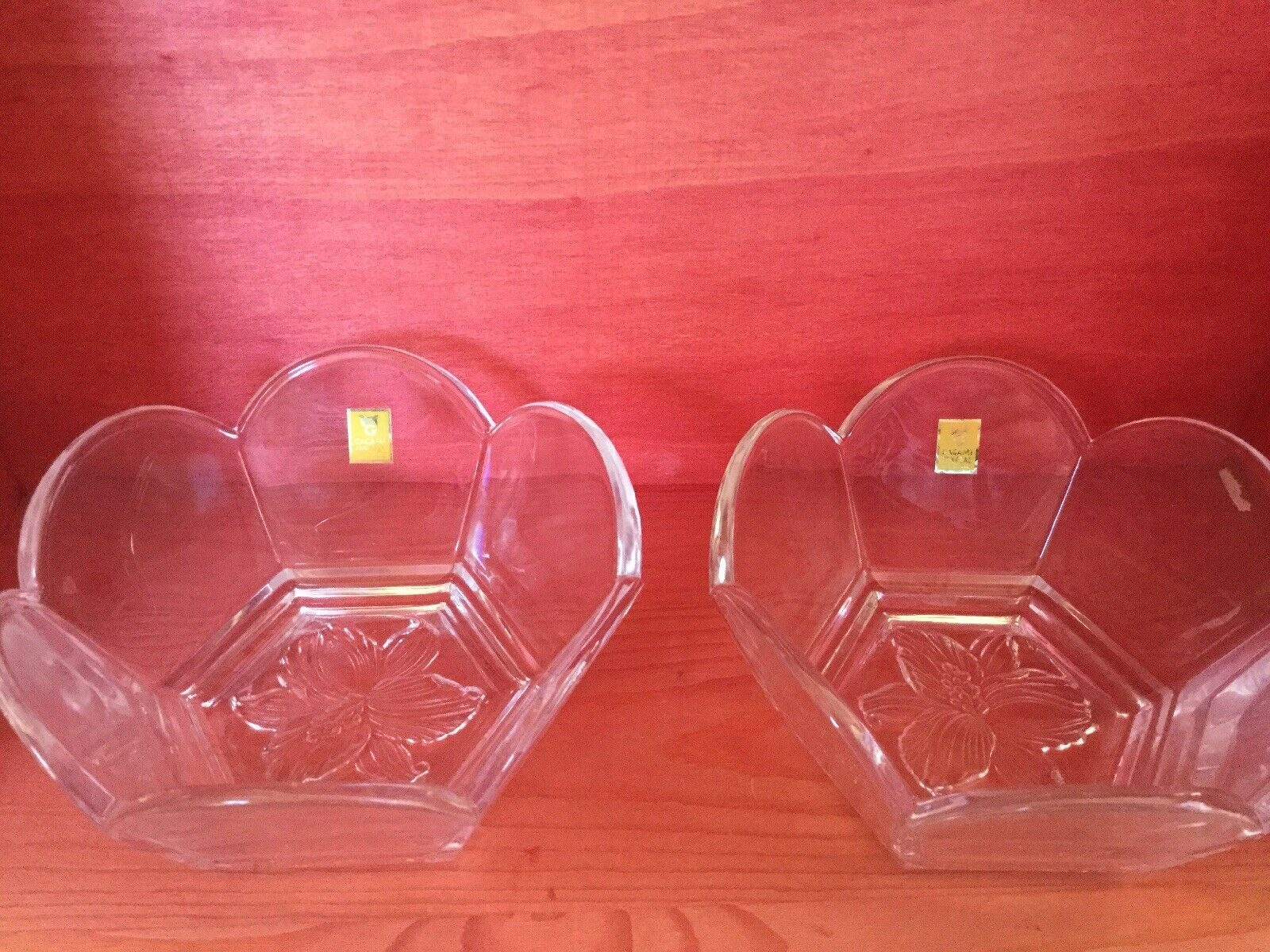 KAGAMI CRYSTAL 4 Candy Dishes - Fruit Bowls - Never Used