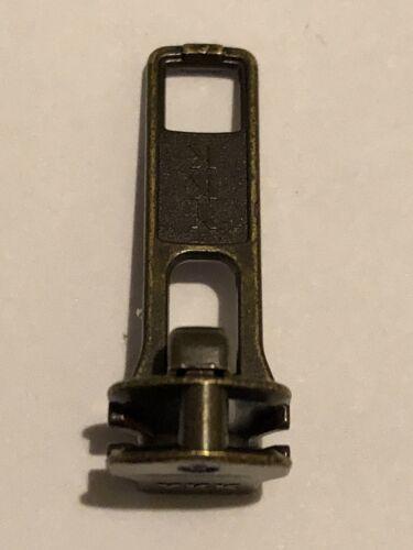 NEW AUTO LOCK ZIP SLIDER//RUNNER//PULLER FOR METAL ZIP. YKK,ANTIQUE COLOUR NO-5