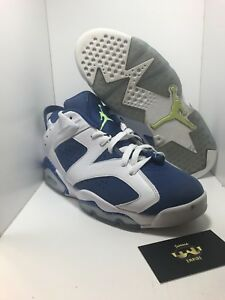 more photos a8f0a 008d3 Image is loading Nike-Air-Jordan-6-Retro-Low-Ghost-Green-