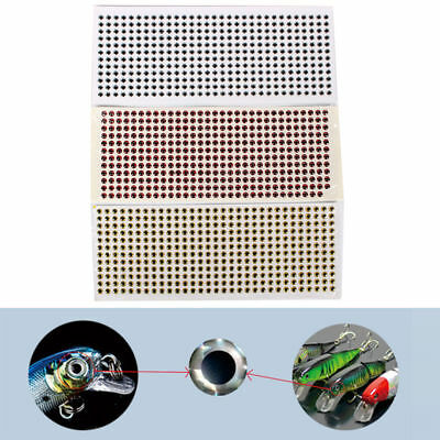 6mm 3D Red Stronger Glue 500pcs Soft Molded 3D Holographic Fish Eyes Lure