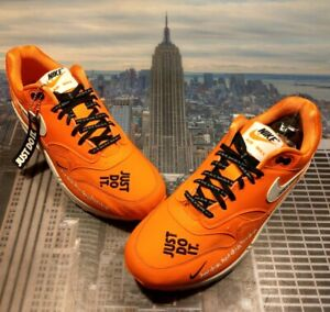 Details about Nike Womens Air Max 1 LX Just Do It Pack Orange Size 10 or 8.5 Mens 917691 800