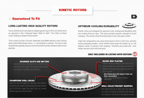 Front and Rear Brake Rotors /& Ceramic Pads For 1999 2000 2001 ELANTRA TIBRURON