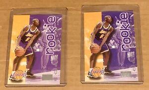 1996-97 Skybox Premium Kobe Bryant Rookie NBA Card Lot Of 2