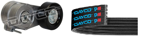 DAYCO Belt + Auto Tensioner for Holden Colorado 2012 - 2013 RG 2.5L 2.8L 4CYL