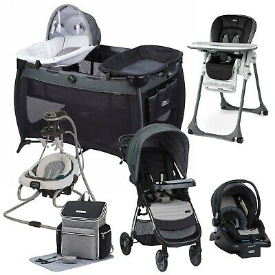 Baby Stroller Travel System with Car Seat Swing Playard Hi ...