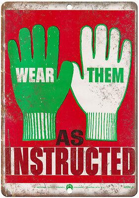 "10/"" x 7/"" Retro Look Metal Sign 1953 Ridgid Pipe Vise Workshop Tools"