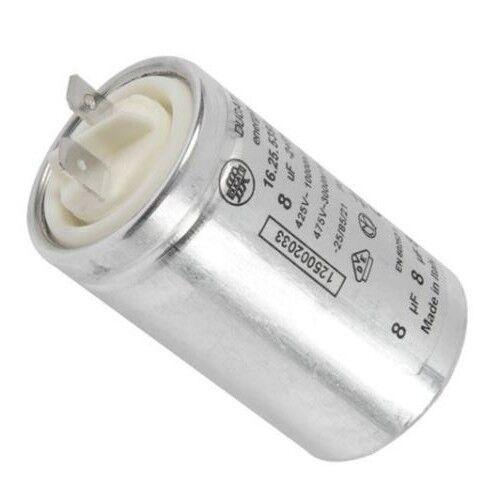 Genuine ZANUSSI zde46201w zde47100w zde47200w Tumble Dryer Capacitor 8uf