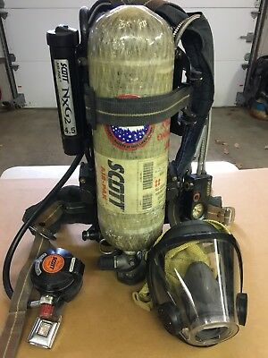Scott 4.5 Nxg2 Scba's 2002 Edition W/ Hud's To Win A High Admiration And Is Widely Trusted At Home And Abroad. Facility Maintenance & Safety lot Of 10