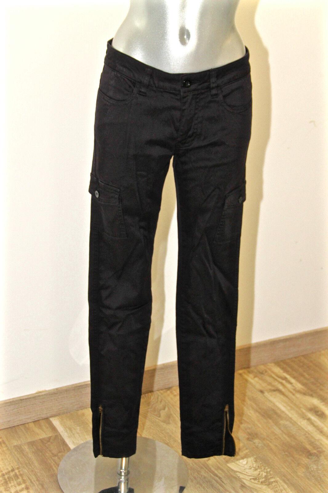 Pantalon slim fit marine zippé ED HARDY  hallyday T 38 fr 42i  NEUF valeur