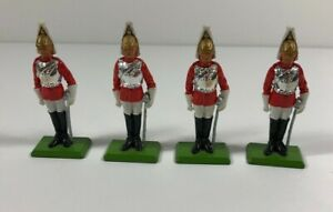 W-Britain-Collection-1973-Four-Household-Cavalry-Metal-Soldiers