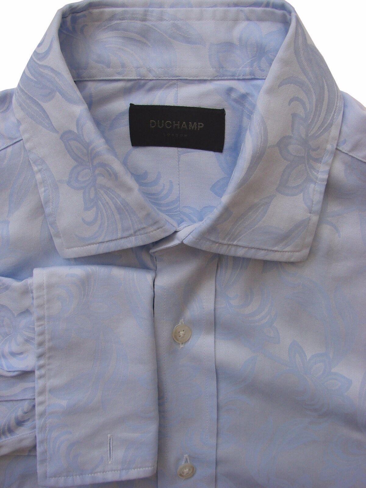 Duchamp London Camicia Blu da Uomo 16 M-fiori