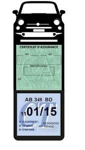 Porte-assurance-voiture-New-Fiat-500-etui-mega-vignette-Stickers-auto-retro