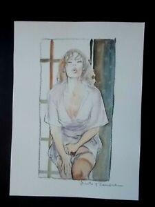 "Milo Manara ( Art Print ) "" Extase "" , Belle Signature au crayon"