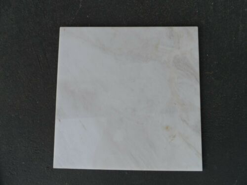"""Cream 12/"""" x 12/"""" White Polished Marble Tile 5//16 inches Tan and Gray Marbling"""