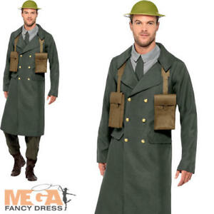 Details about WW2 British Officer Mens Fancy Dress Military Army Uniform  Adults Costume Outfit