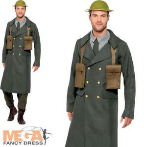 ww2 british officer mens fancy dress military army uniform adults