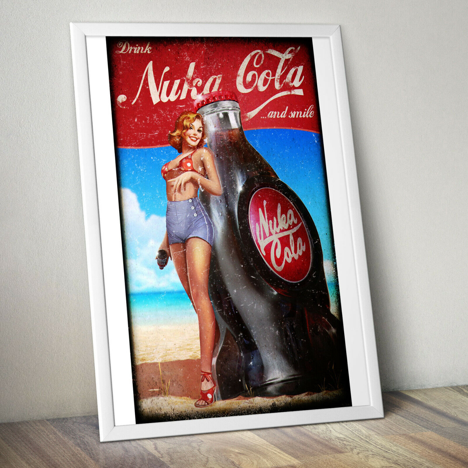 Fallout 4 Video Game Poster Canvas Premium Quality A0 A1 A2 A3 A4