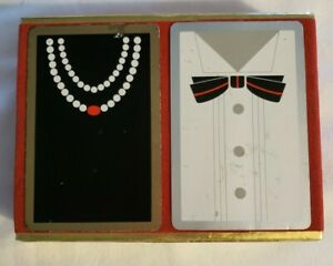 Vintage Congress Cel-U-Tone Finish Formal Wear Playing Cards Set of Two Decks