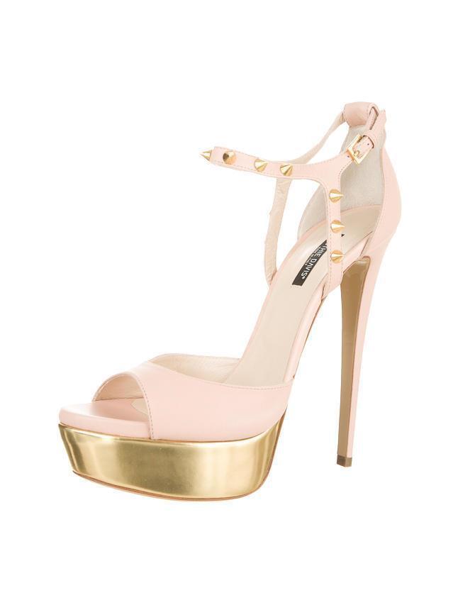 Ruthie Davis Davis Davis Mujer rosadodo + Dorados Jupiter Tacón Alto Zapatos de Plataforma  punto de venta