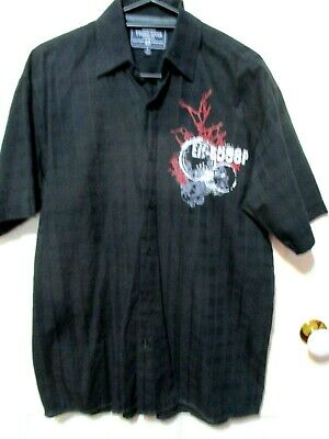 Men/'s Short-sleeved Personality Chinese Style 100/% Cotton Large Size T-shirt Cz8