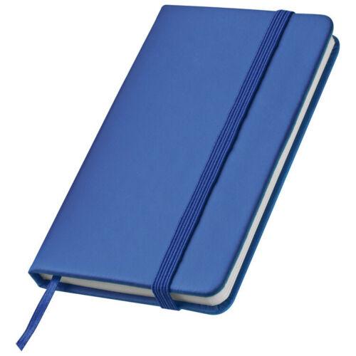 160 Seiten Notizbuch A7+ // PU Einband 127x78mm Farbe blau Größe