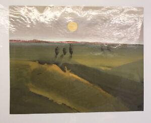 Gouache-von-Ursula-Bankroth-034-Landschaft-mit-Sonne-034-2000-Malerei-Kunst-sf