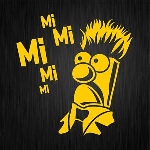 MiMiMi-Mi-Mi-Mi-Mr-Beaker-Comedy-Spass-Gelb-Auto-Vinyl-Decal-Sticker-Aufkleber