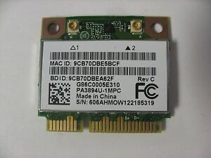 carte wifi toshiba satellite c660