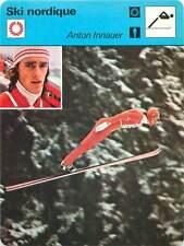 FICHE CARD: Anton Innauer Austria Ski jumper Nordic skiing SKI NORDIQUE 1970s
