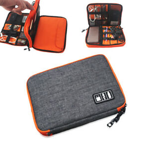 07dfc54446dc Details about Storage Accessories Travel Organiser Case for iPad  Mini,iPhone,Cable S Grey