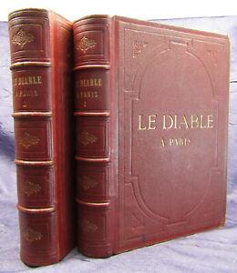 Gavarni Le Diable A Paris - Paria Et Les Parisies. 2 Bde 1845 Sitten Bräuche sf