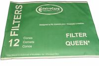 Filter Queen Cones. Envirocare Replacement Brand. 12 Filter Cones In Pack