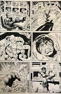 Incredible Hulk Original Comic Art; Annual Issue #14 Pg #17 Sal Buscema Art 1986