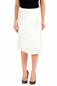 Maison-Margiela-4-Silk-White-Women-039-s-Wrapped-Skirt-US-S-IT-40