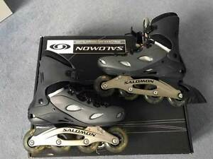 Details about Salomon Inline Skates Size 44 Hardly Used Incl. PROTECTIVE equipment show original title