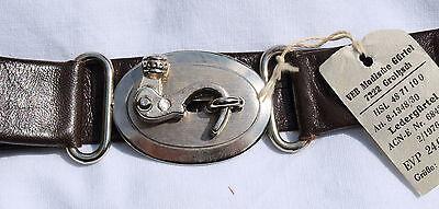Attivo Cintura In Pelle Ddr Ostalgie True Vintage Moda 1976 Veb 60cm Fibbia Barretta Alleviare Reumatismi E Freddo