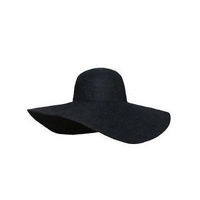 Floppy Preppy Wide Brim Summer Fashion Trend Sun Beach Hat Black